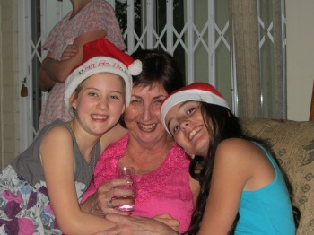 My granddaughters, Christmas 2012