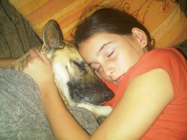 When my daughter's German Shepherd died, she found their new family dog at the SPCA. Kiera and my granddaughter, Emma are growing up together and have formed a strong bond.