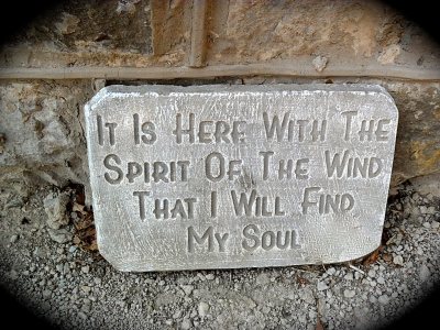 A plaque In the Churchyard